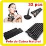 Set De 32 Brochas Profesionales 100% Pelo Natural De Cabra!