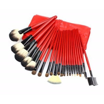 Set 22 Brochas Pelo Natural Colo Rojo + Regalo
