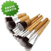 Set De Brochas Profesionales Para Maquillaje (11 Piezas)