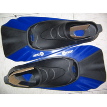 Aletas Plastico 25-26 Cortas Azul-negro Natacion Buceo