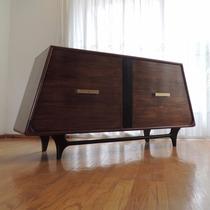 Bufetero O Credenza En Caoba Diseño Danés Vintage Años 60s