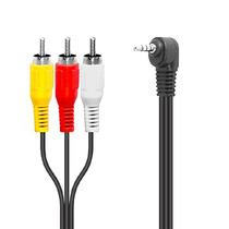 Cable Para Videocamara 3 Rca A 3.5 Mm De 4 Concactos 1.8 Mt