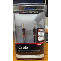 Cable Auxiliar 3.5mm Monster Icable 800 Iphone,ipod, Mp3