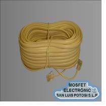 Cable Telefónico Plug A Plug De 15 Mts Para Linea Telmex