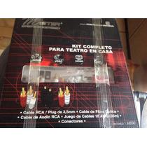 Kit Completo De Cables Y Fibra Óptica Para Teatro En Casa