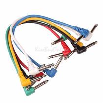 6 Cables Para Pedal De Guitarra. Cables De Parcheo