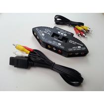Cable Rca Para Super Nintendo Gamecube N64 Y Selector Gratis