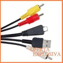 Cable Usb Audio Y Video Vmc-md3 Camaras Sony Dsc-w350 T99