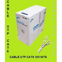 Cable Utp Cat6e, Al Mejor Precio, Rollo 305mts, Cat-6e,bfn