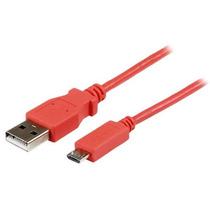 Startech.com Cable Slim Usb A Micro Usb B 1 Metro Rosa