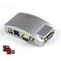 Convertidor Vga Pc Tv Adaptador Video Rca Cables Conversor