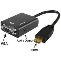 Convertidor De Señal Hdmi A Vga Con Salida De Audio