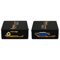 Mini Convertidor Rca Y S-video A Vga Xcase
