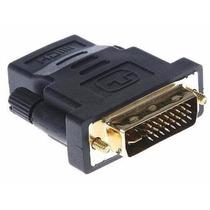 Conector Adaptador Dvi-d Macho A Hdmi Hembra Fullhd Video Tv