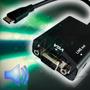 Convertidor Hdmi A Vga Con Audio
