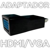 Adaptador Hdmi A Vga Laptop Todo En Uno Proyectar Por Cable