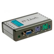 D-link Mini Switch Vga 2 Teclado Mouse Sonido Kvm-121