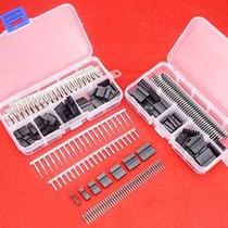 Hilitchi 345 Pcs 40 Pin 2.54mm Pitch De Una Fila Pin Cabezal