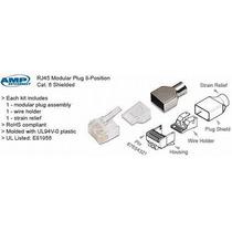Amp 25 Plug Blindado Rj45 Cat6 5-1375204-4 Utp Ftp Stp