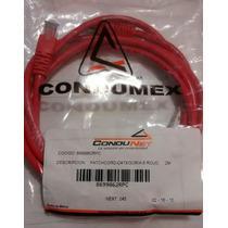 Patch Cord Cat 6 Rojo Condumex