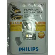 Cable Philips Conversor Hdmi / Dvi De 2 Metros Reforzado