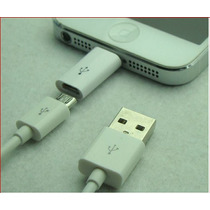 Adaptardor Micro Usb A Lightning Iphone 5 5s Ipod Ipad