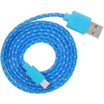 Cable De Datos Reforzado Entrada Micro Usb V8 Varios Colores