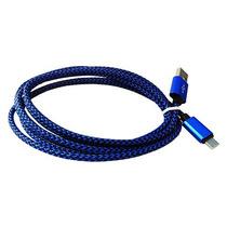 Cable Aluminio Usb Micro Usb Moto Htc Xperia 2m Azul Rey
