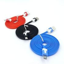 Cable Plano V8 3 Metros Colores Micro Usb Tablet Simila