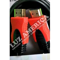 Cable Hdmi A Hdmi 1.8 Mts. Terminado Oro De Alta Velocidad