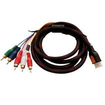 Cable Adaptador Hdmi A 5 Rca, Audio Y Video De 1.5 Metros, T