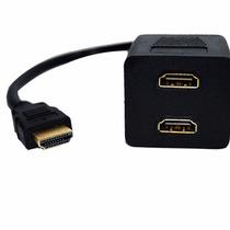 Cable 1x2 Splitter Hdmi Divisor De Señal Conecta 2 Monitores