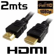 Cable Hdmi Baño De Oro 2 Metros Versión 1.4