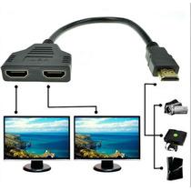 Splitter Divisor De Señal Hdmi Conecta 2 Monitores A La Vez