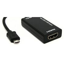 Adaptador Cable Micro Usb V8 A Hdmi Mhl Para Celular Tablet