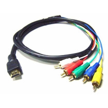 Cable Adaptador Hdmi A 5 Rca 1.5m.