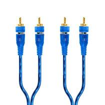 Cable Rca Profesional Estereo Macho A Macho 6 Mts Azul Oro