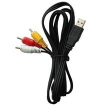 Cable Entrada Usb A Plug 3 Rca/longitud 1.80 Metros
