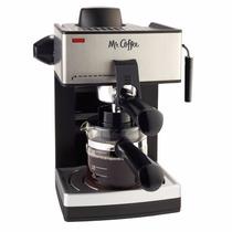 Mr. Coffee Cafetera 4 Tazas Espresso Con Espumador Capuchino