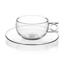 Dolce Gusto Set 2 Taza Vidrio Chai Te Tea Latte Plato