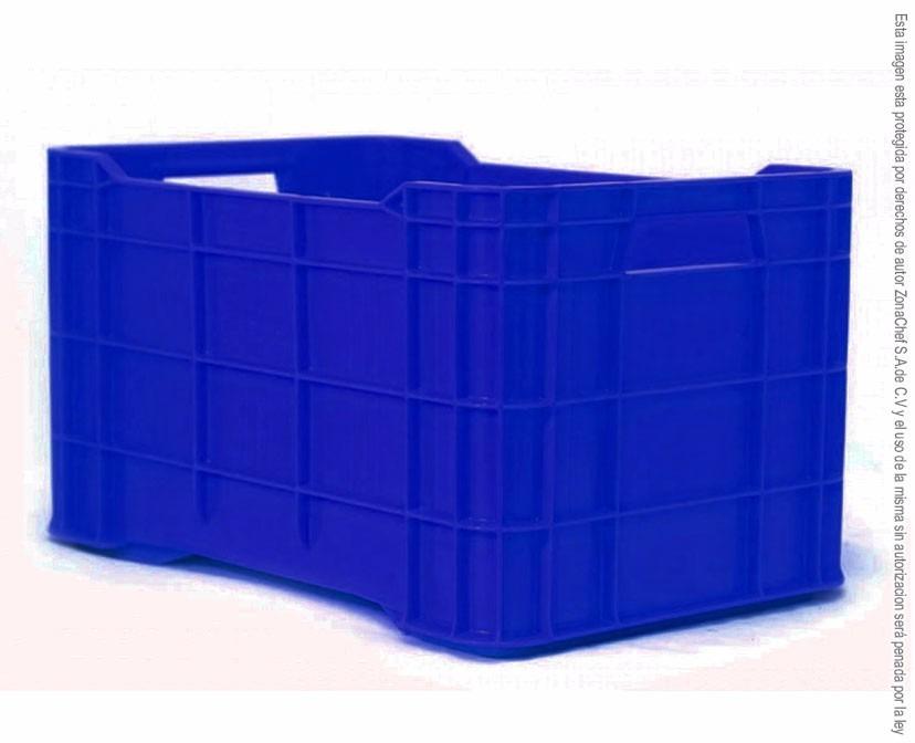 Caja plastica apilable mediana 50x33x28 de mediana calidad for Cajas de plastico precio