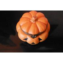 Estuche Alhajero De Porcelana Pumpkin Calabaza Halloween
