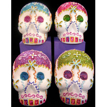 Alcancia De Ceramica Calaverita !!! Halloween Dia De Muertos