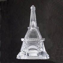 Dulcero De Cristal En Forma De Torre Eiffel De 20 Cm De Alto