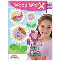 Woof Flor Joyería - Colorific Madera Worx Soporte Niños