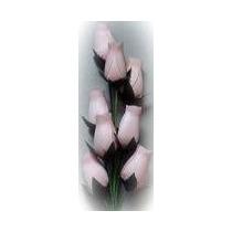 Hecho A Mano De Madera Rosas Blancas (8)