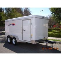 Remolque Caja Seca 4.20 Y 4.80 De Fondo,aluminio,motos,carga