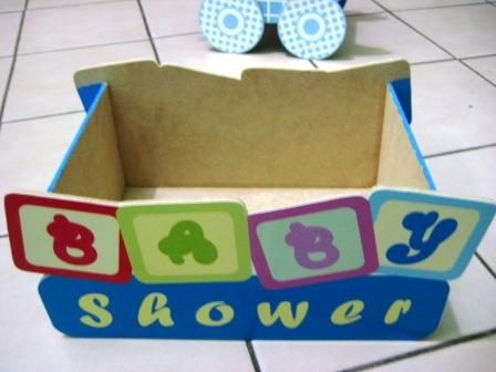 Centros de mesa de madera para baby shower imagui for Mesa baby shower nino