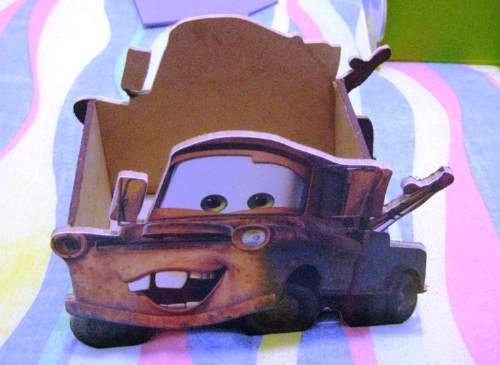 Cajitas De Personajes De Cars Para Centros De Mesa O Dulcero ...