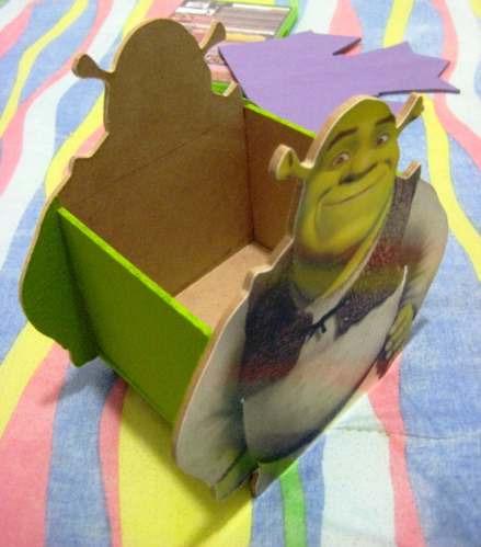 Cajitas De Shrek En Madera Mdf Para Centros De Mesa. - $ 60.00 en